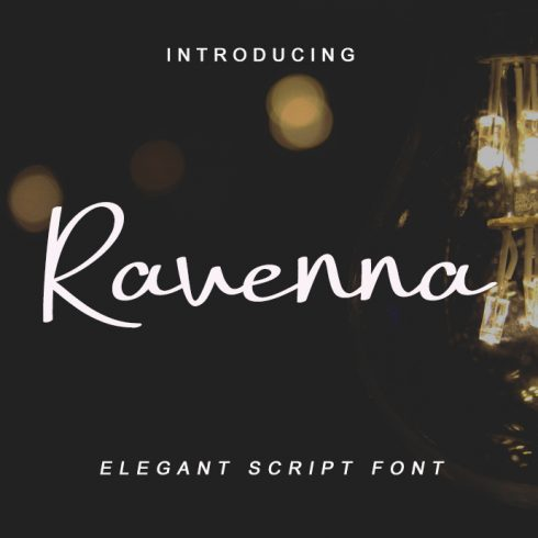 Gietta Handlettered Calligraphy Font - Ravenna Preview 490x490
