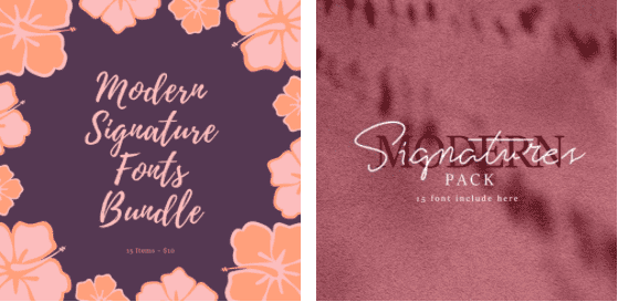 15+ Best Signature Fonts in 2020: Astounding Typography for Your Projects - Screen Shot 2020 06 22 at 09.53.19