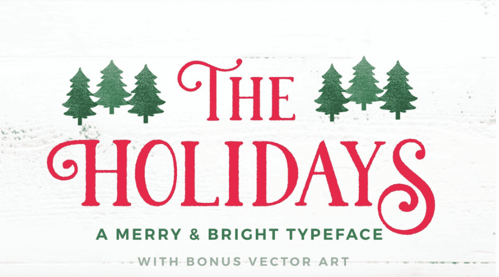 110+ Best Christmas Fonts 2020: Free & Premium - best christmas fonts 27 min
