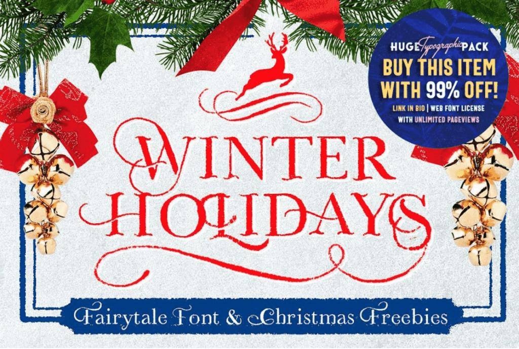 110+ Best Christmas Fonts 2020: Free & Premium - best christmas fonts 35 min