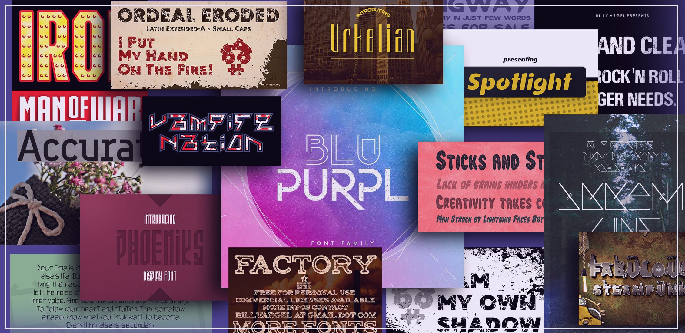 Examples Best Industrial Fonts.