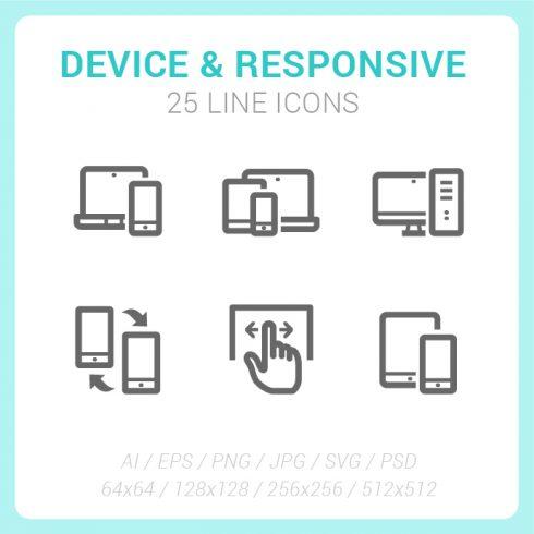 25 Responsive & Device Line Mini Icon - device responsive SS 07 490x490