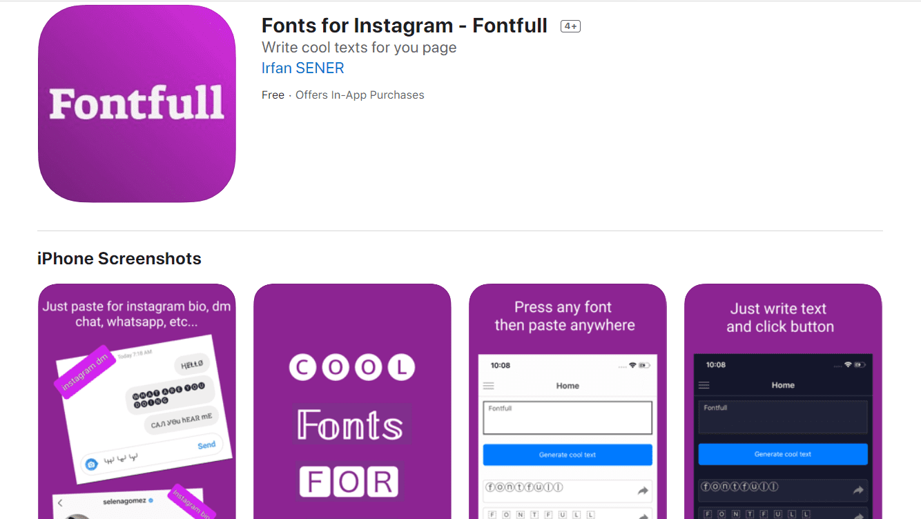 20+ Tools for Instagram Fonts in 2020. Awesome and Customize! - instagram font apps 4