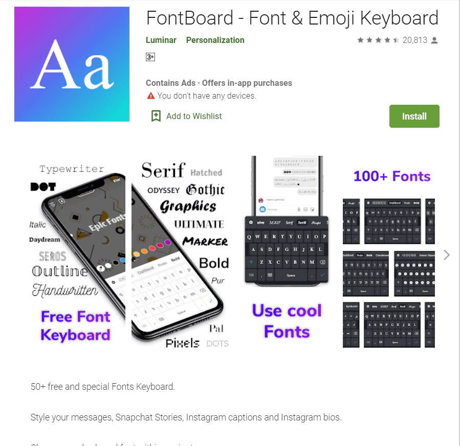 20+ Tools for Instagram Fonts in 2020. Awesome and Customize! - instagram font apps 6
