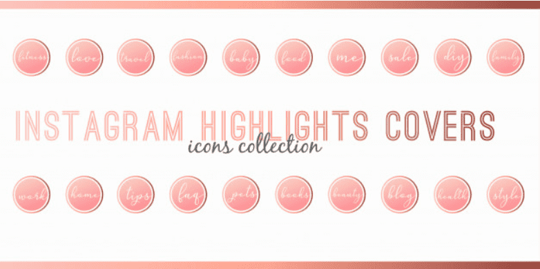 How To Create Instagram Highlight Covers? Free And Premium Instagram Highlight Icons 2020 - premium instagram highlights icons 01