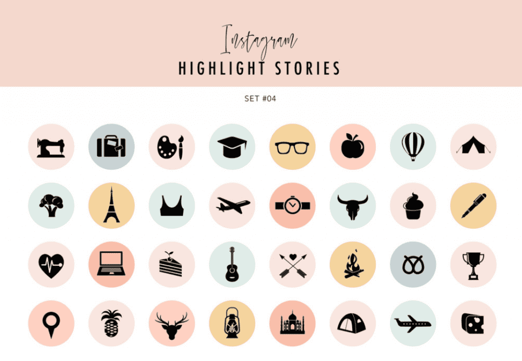 How To Create Instagram Highlight Covers? Free And Premium Instagram Highlight Icons 2020 - premium instagram highlights icons 15