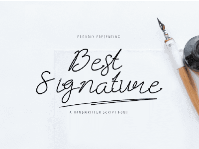 15+ Best Signature Fonts in 2020: Astounding Typography for Your Projects - signature fonts26