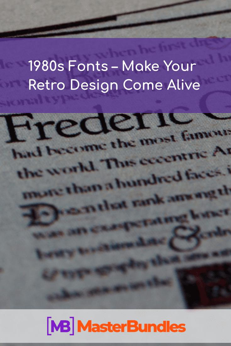Best 1980s Fonts. Pinterest Image.