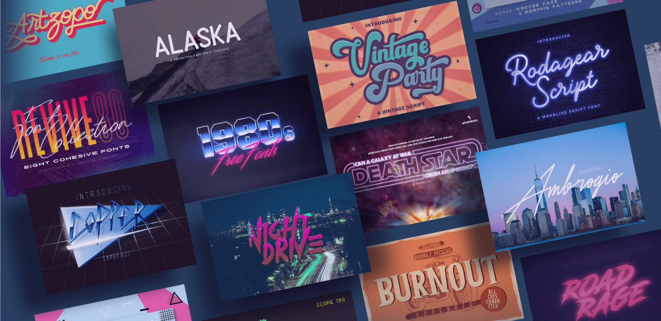 95+ Best Girly Fonts 2021: Free, Premium & Bundles - 1980s fonts
