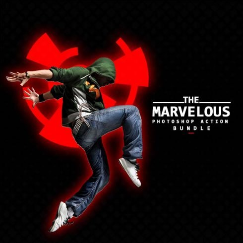 The Marvelous Photoshop Action Bundle - 690.. 1 490x490