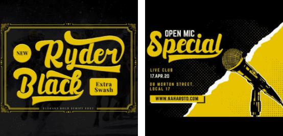 1980s Fonts - Make Your Retro Design Come Alive - Black Ryder – Bold Script Font – 3