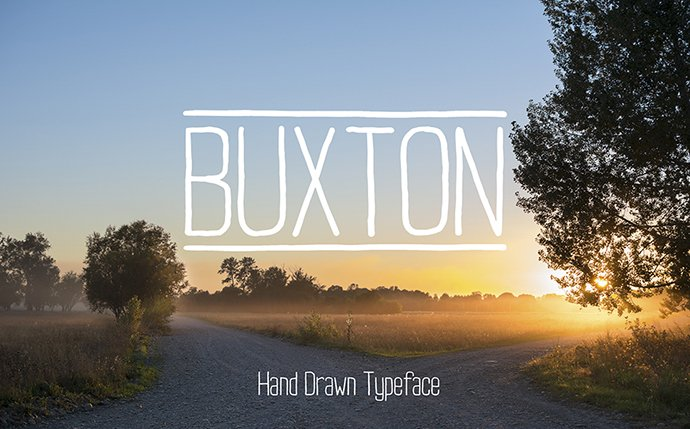 Rounded Sans Serif Font Buxton: Minimalistic & Handwritten - Buxtom 1 mb