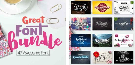 1980s Fonts - Make Your Retro Design Come Alive - Curly Fonts – Unique Script Fonts 2 Display Fonts – Only 29