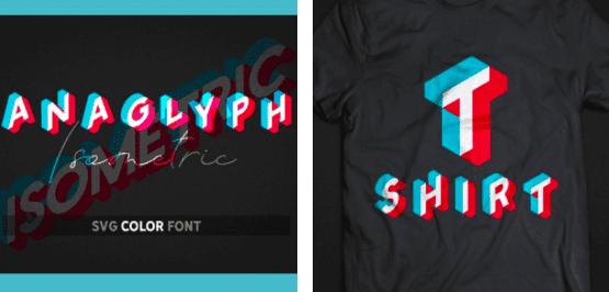 1980s Fonts - Make Your Retro Design Come Alive - Isometric Font Anaglyph SVG Color Font