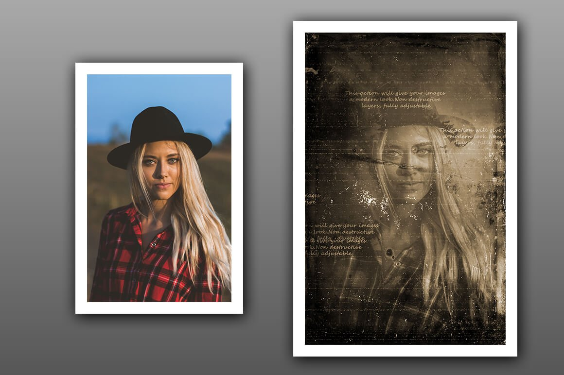 6-In-1 Vintage Photoshop Actions Bundle - PREVIEW 15 3