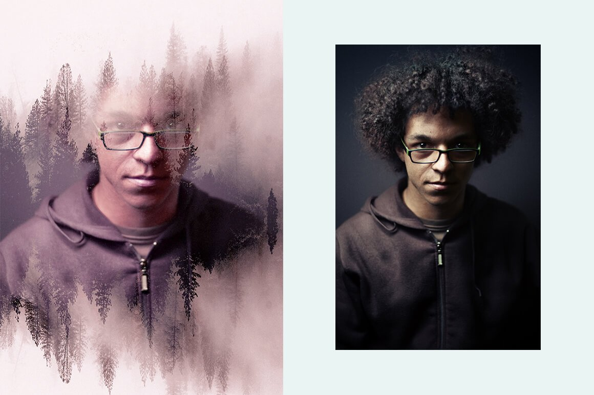 6-In-1 Double Exposure Photoshop Actions Bundle - PREVIEW 17