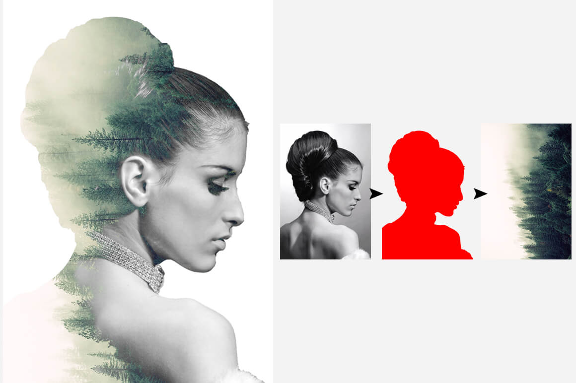 6-In-1 Double Exposure Photoshop Actions Bundle - PREVIEW 19 1
