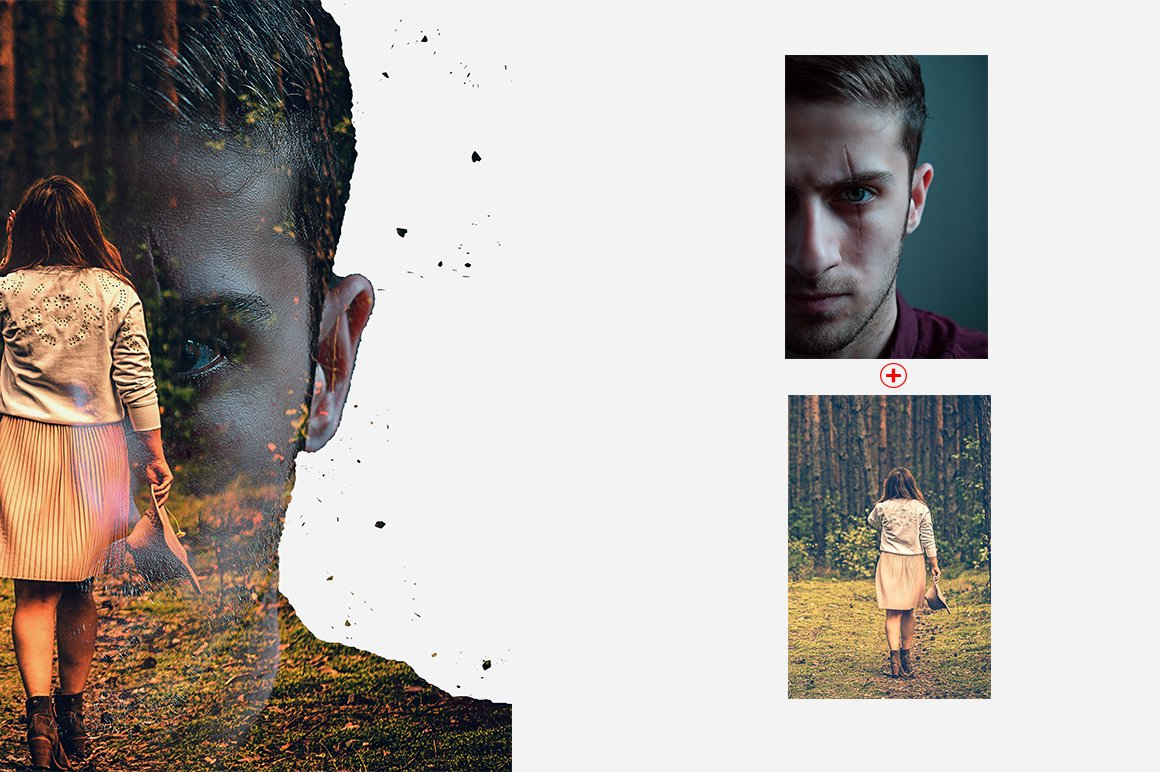 6-In-1 Double Exposure Photoshop Actions Bundle - PREVIEW 22 1