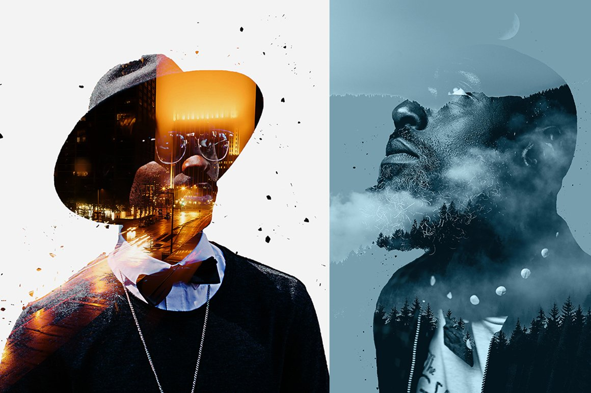 6-In-1 Double Exposure Photoshop Actions Bundle - PREVIEW 25 1