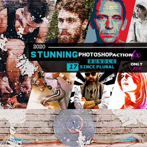 The Stunning Photoshop Action Bundle - 17 Amazing Actions - PREVIEW 3. 490x490