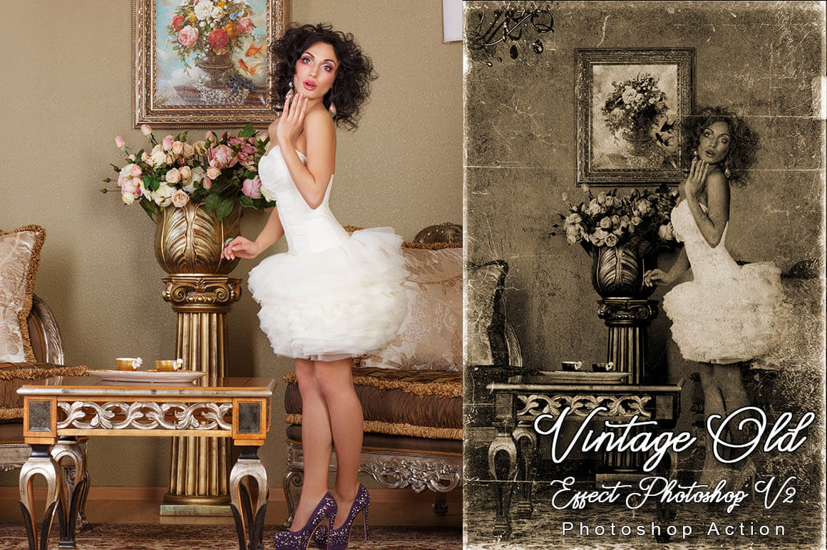 6-In-1 Vintage Photoshop Actions Bundle - PREVIEW 30...