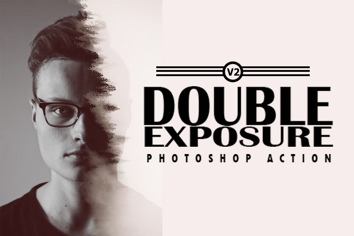 6-In-1 Double Exposure Photoshop Actions Bundle - PREVIEW 9 1