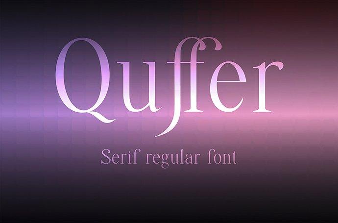 Quffer Regular Thin Serif Font - Quffer 1 1mb