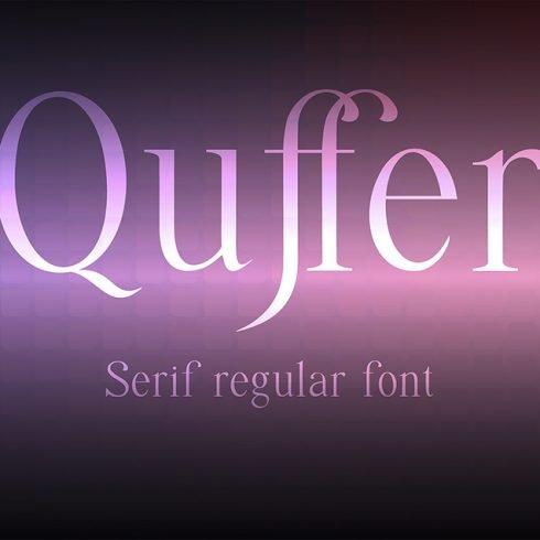 Quffer Regular Thin Serif Font - Quffer 1 1tm 490x490
