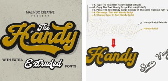 1980s Fonts - Make Your Retro Design Come Alive - Retro Vintage Font Handy Script – 10