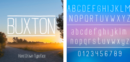 1980s Fonts - Make Your Retro Design Come Alive - Rounded Sans Serif Font Buxton Minimalistic   Handwritten