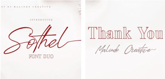 1980s Fonts - Make Your Retro Design Come Alive - Sothel Font Duo Serif and Script
