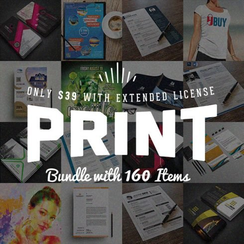 Royal Print Templates Bundle with 160 Items - Only $19 - banner 690x690 490x490