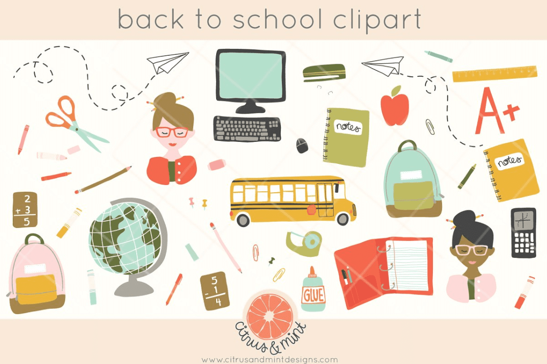 55+ Best Back to School Clipart and Images: Largest Kit 2020 - clipart 1