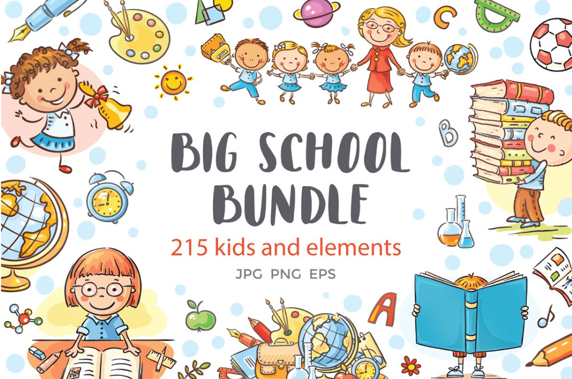 55+ Best Back to School Clipart and Images: Largest Kit 2020 - clipart 2