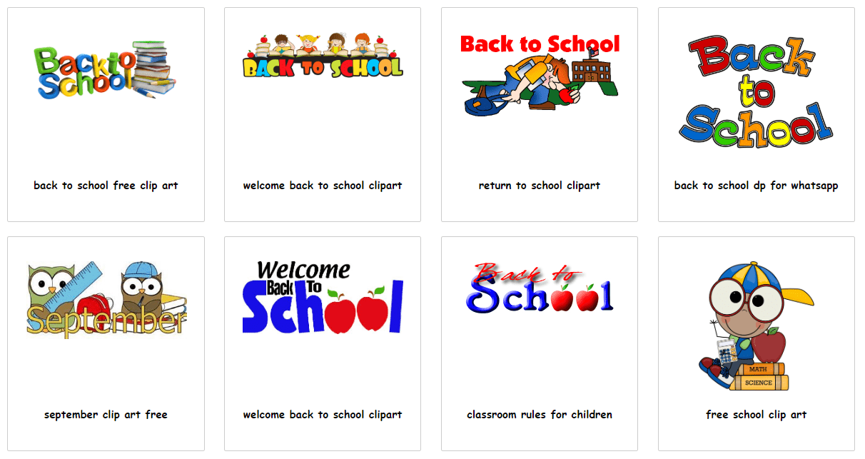 55+ Best Back to School Clipart and Images: Largest Kit 2020 - clipart 37