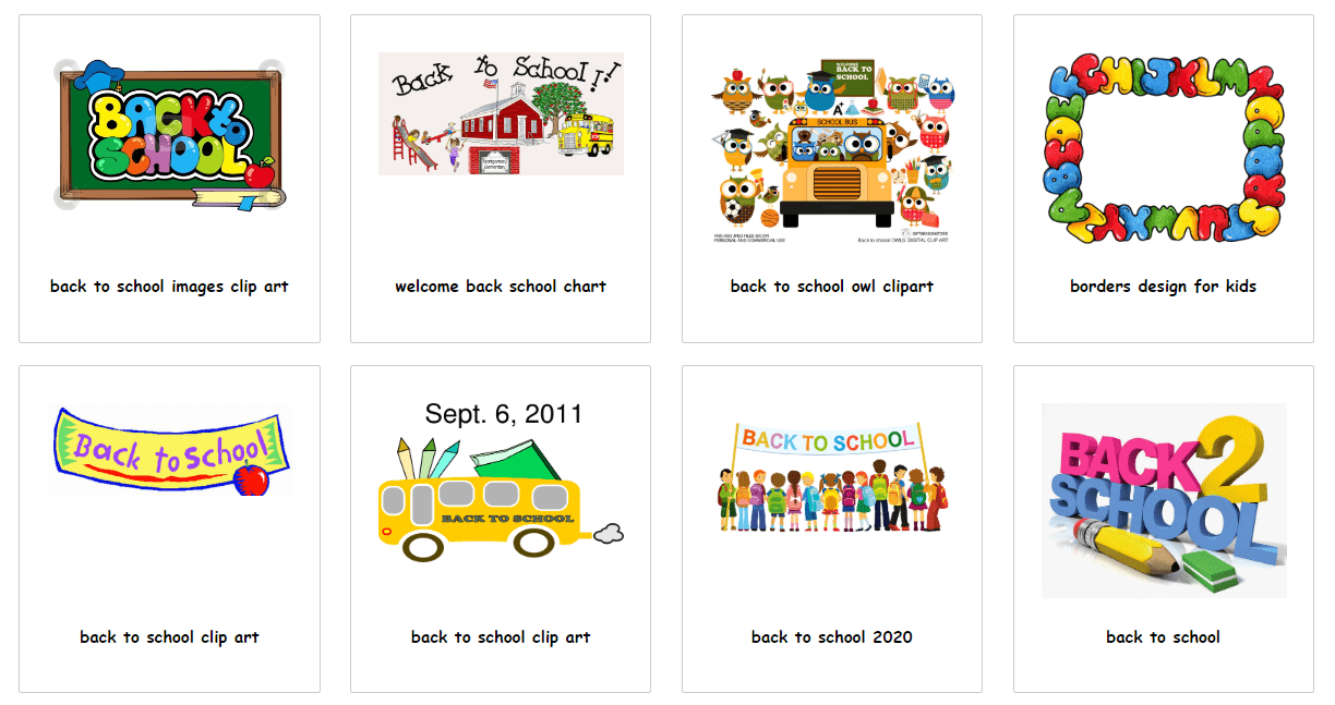 55+ Best Back to School Clipart and Images: Largest Kit 2020 - clipart 38