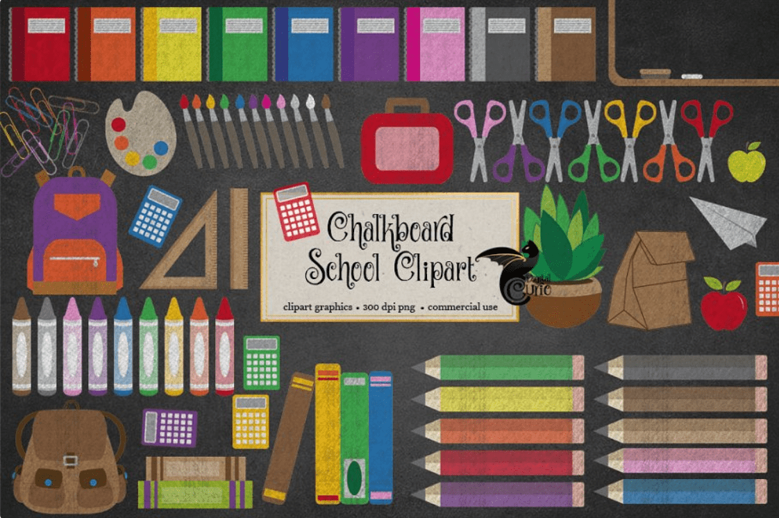 55+ Best Back to School Clipart and Images: Largest Kit 2020 - clipart 5