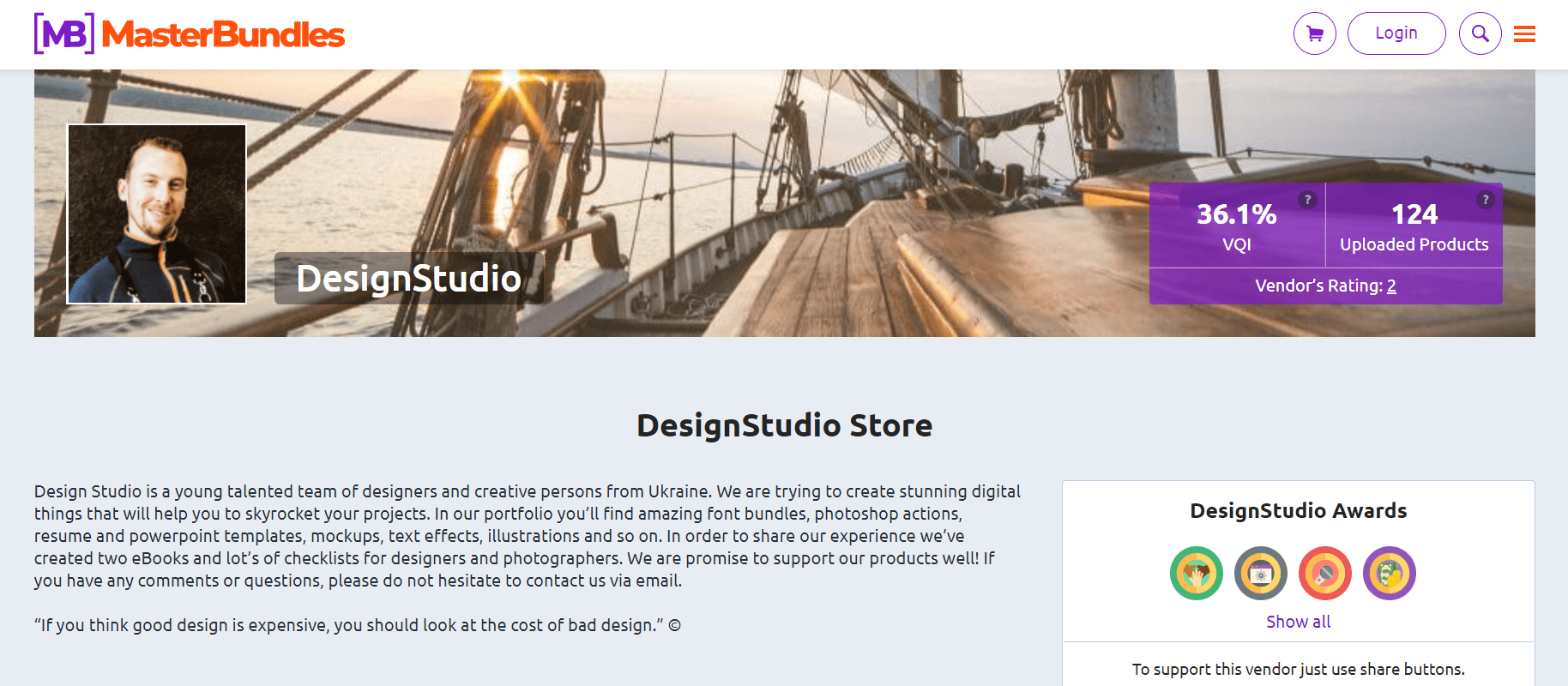 DesignStudio Vendor.