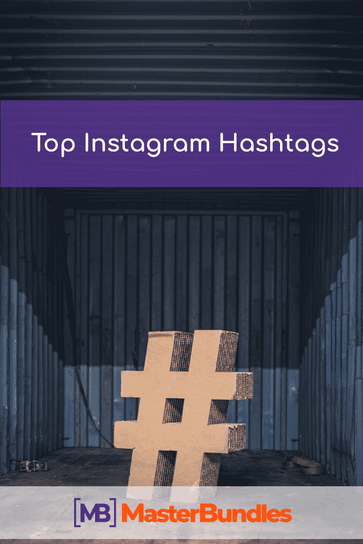 Top Instagram Hashtags. Pinterest Image.