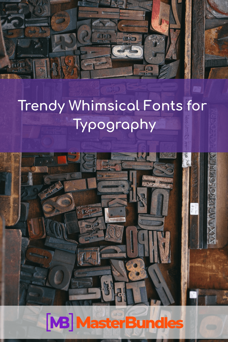Whimsical Best Fonts. Pinterest Image.