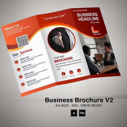 Business Brochure V2: Fundraising Brochure Template - PREVIEW 5 1 490x490