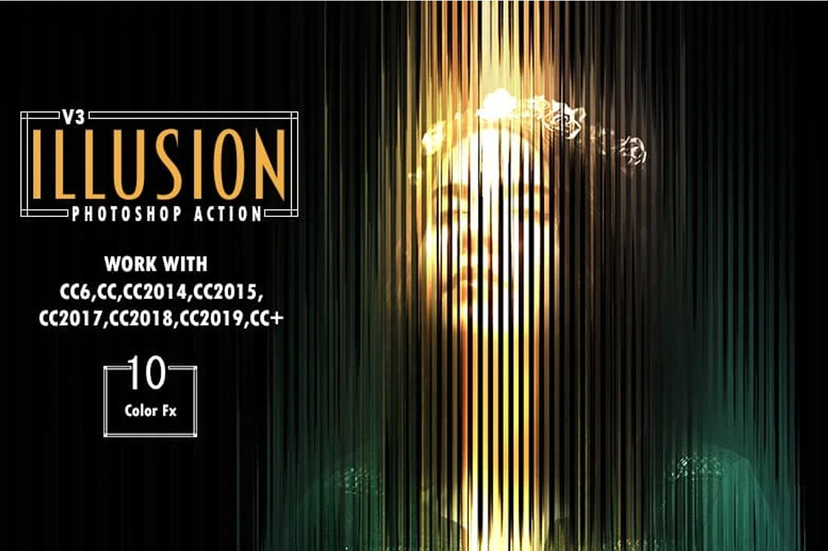 7-In-1 Illusionist Photoshop Action Bundle - Preview 1 1