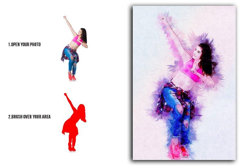 11-In-1 Elegant Watercolor Photoshop Actions Bundle - Preview 11 1
