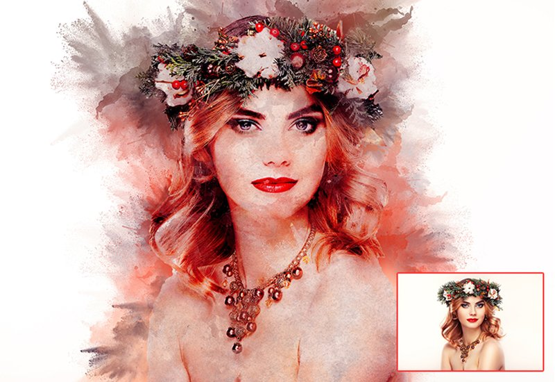 11-In-1 Elegant Watercolor Photoshop Actions Bundle - Preview 12 1