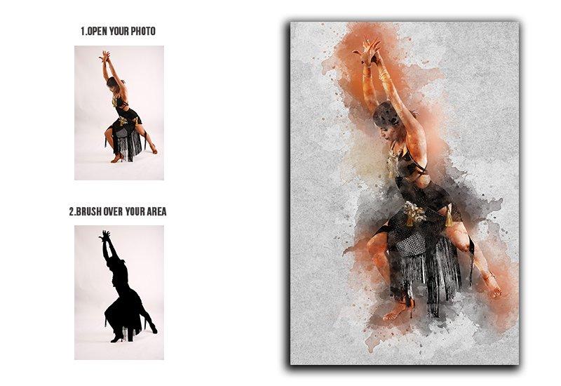 11-In-1 Elegant Watercolor Photoshop Actions Bundle - Preview 15 2
