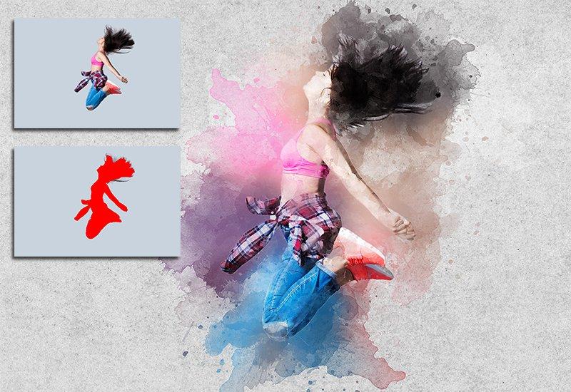 11-In-1 Elegant Watercolor Photoshop Actions Bundle - Preview 17 1