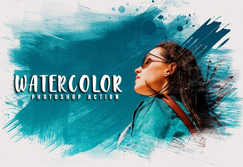 11-In-1 Elegant Watercolor Photoshop Actions Bundle - Preview 20 1