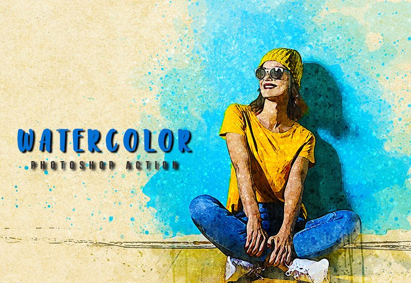 11-In-1 Elegant Watercolor Photoshop Actions Bundle - Preview 24 1