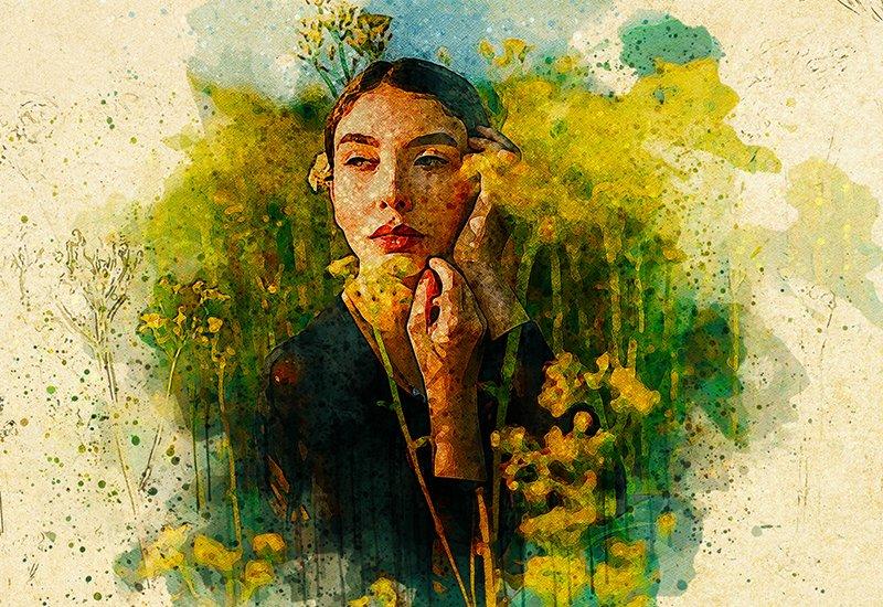 11-In-1 Elegant Watercolor Photoshop Actions Bundle - Preview 26