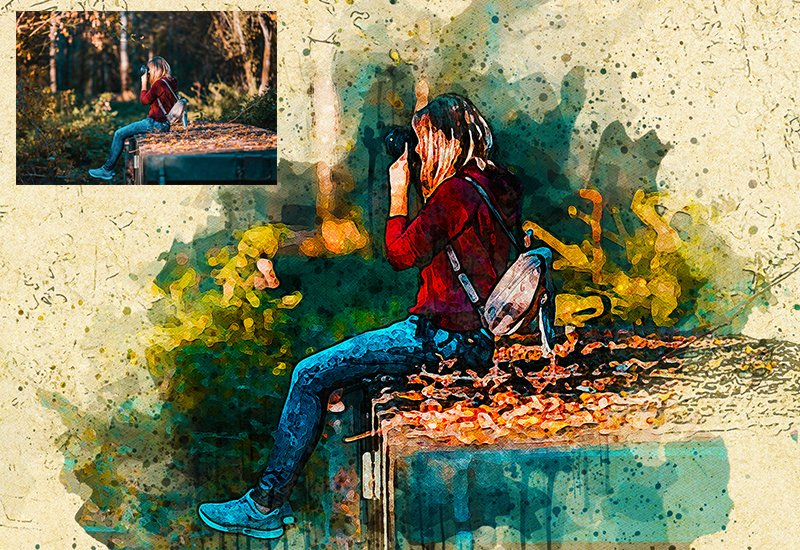 11-In-1 Elegant Watercolor Photoshop Actions Bundle - Preview 28